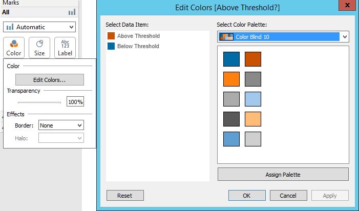 Palette from Tableau Desktop
